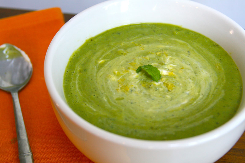 Pea & Mint Soup With Lemon Crème Fraiche | Tasting Notes