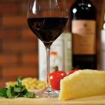 Italian wines and cheese